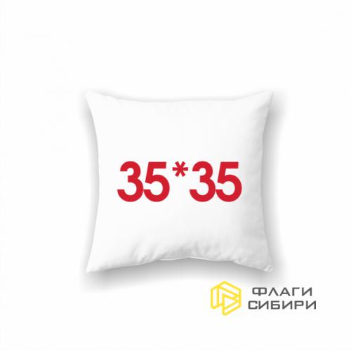 Подушка на заказ 35х35 см, квадратная