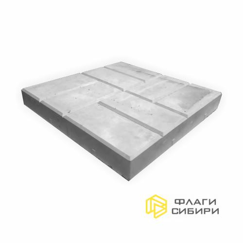Бетонная плита без отверстия, 40*40*5см, 20 кг
