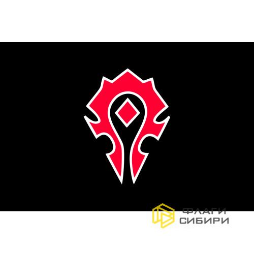 Флаг Орды WoW черный
