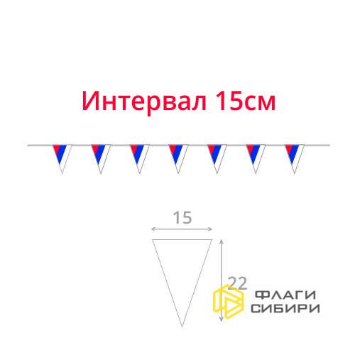 Гирлянда, триколор РФ №1, треугольные