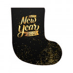 """Носок для подарков новогодний """"Happy new year 2021"""""""