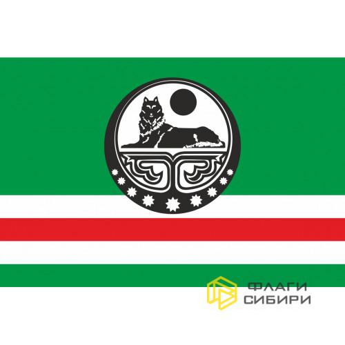 Флаг Чечни-Ичкерии (с волком)