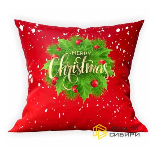 """Подушка новогодняя """"Merry Christmas"""""""