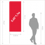 Флаг Баннер 0,65*1,7м (на флагшток 2,5м)