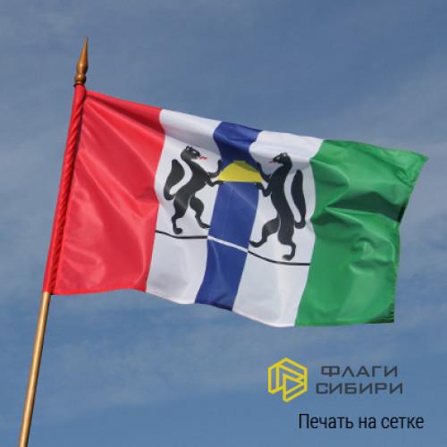Флаг 90*135 см, Новосибирской области
