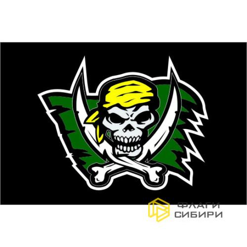 Яркий Пиратский флаг с черепом