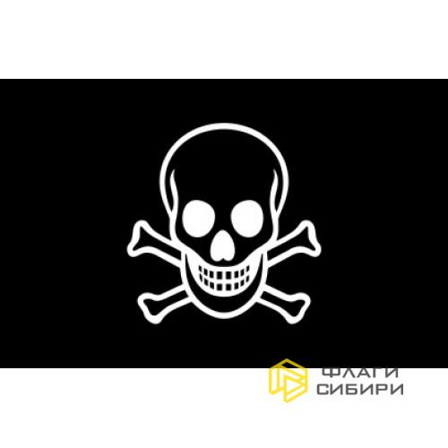 Пиратский флаг с черным черепом