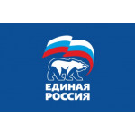 Флаг Единая Россия синий