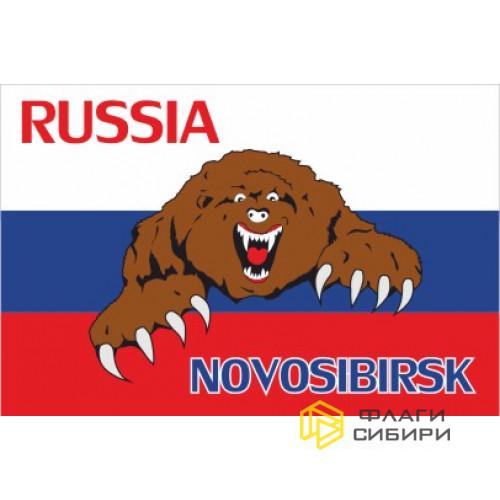 Флаг России с медведем №2