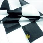 Флаг Финишный (Стартовый), 50х50, черная клетка