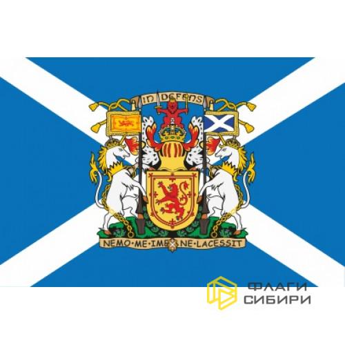 Флаг Шотландии с Гербом